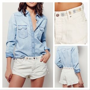 Free People Shorts Button Fly NWT